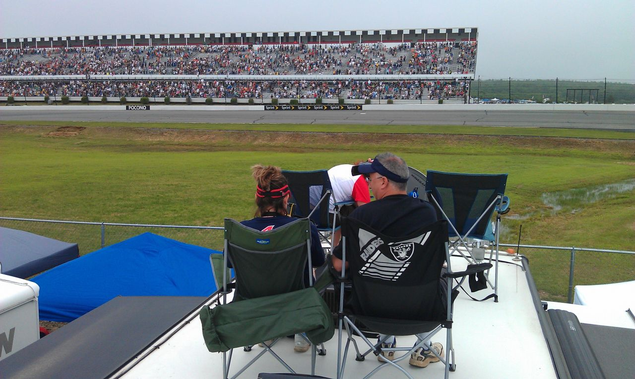 Enjoying NASCAR With Friends