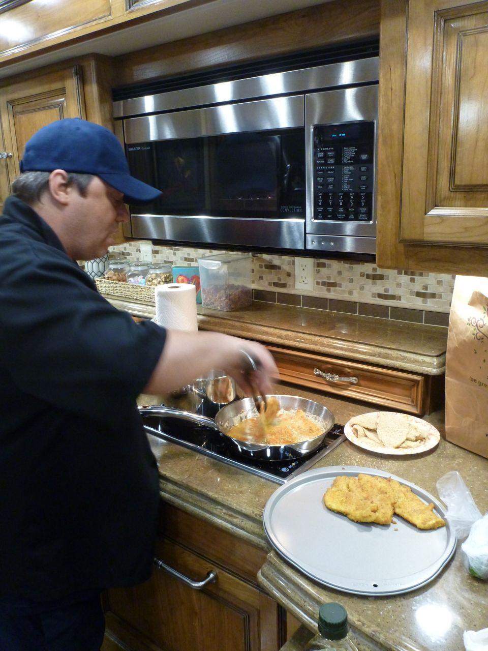 Danny Cooking Chicken Parmigiana