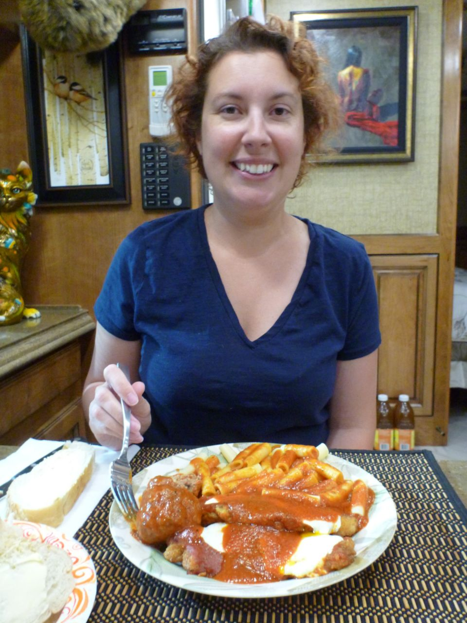 Brenda Enjoying Dinner