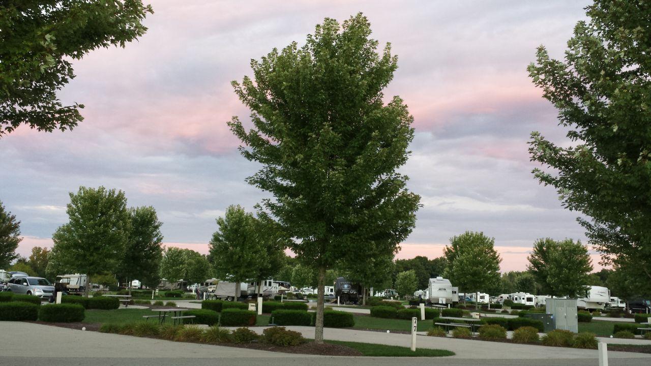 Beautiful Evening Sky At River Ridge RV Resort