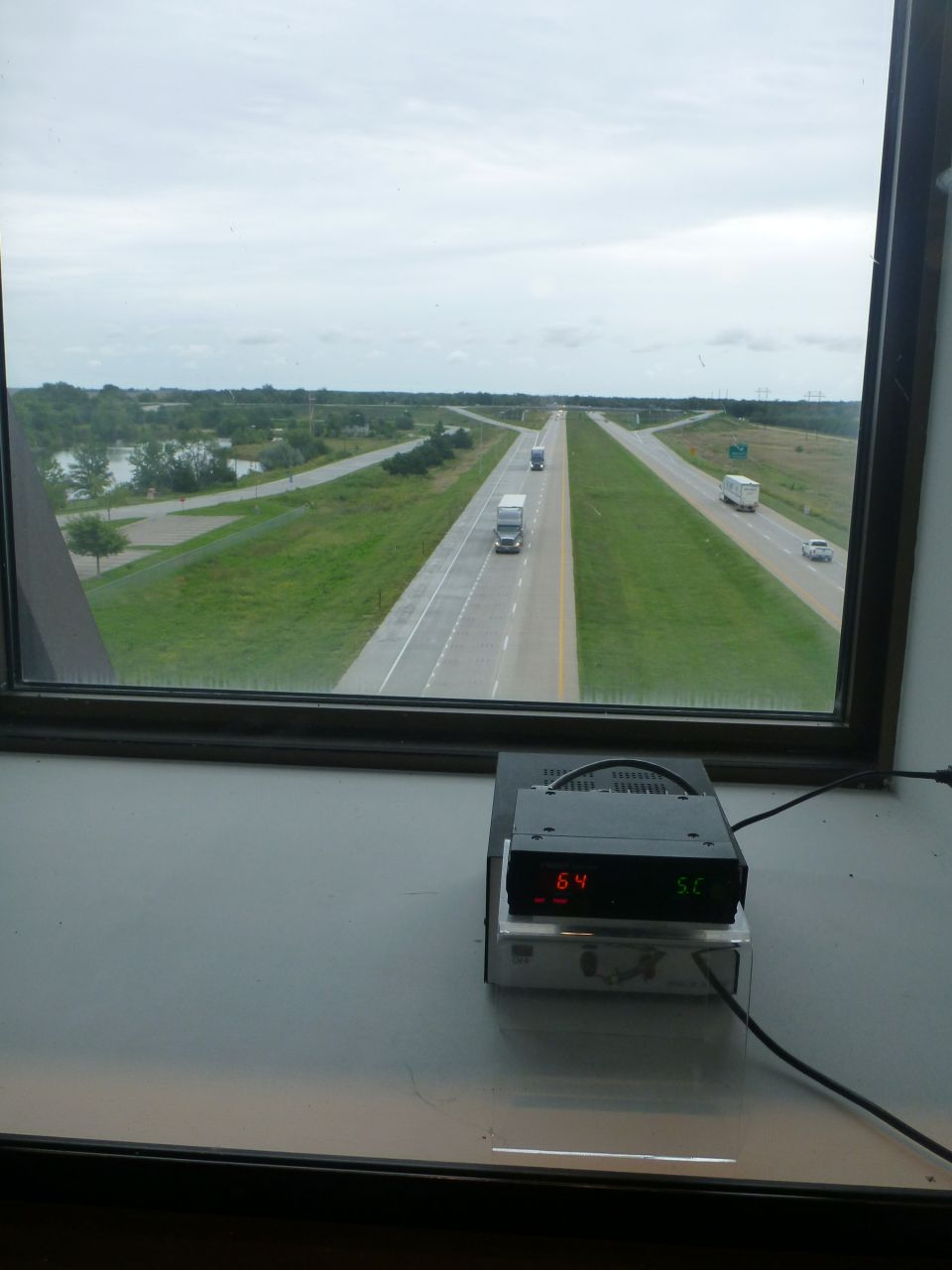 Window Out To I80, Checking Speed