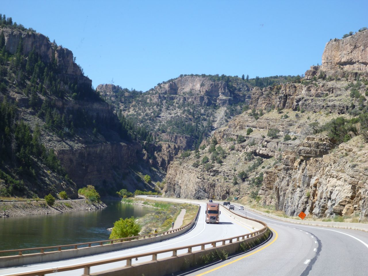 Driving Through Glenwood Canyon, Colorado