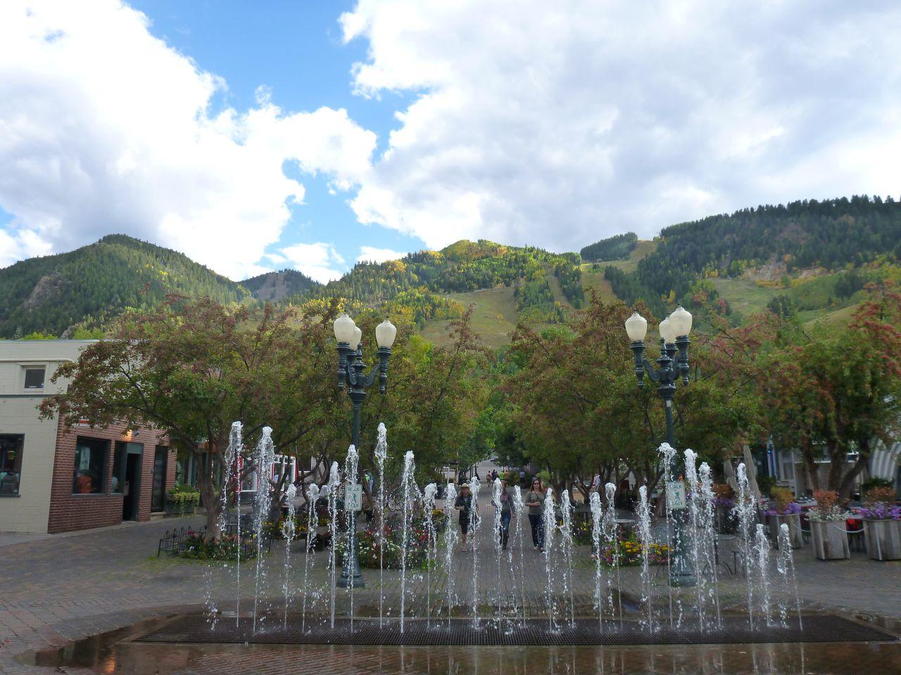 A Fun Fountain With A Gorgeous View