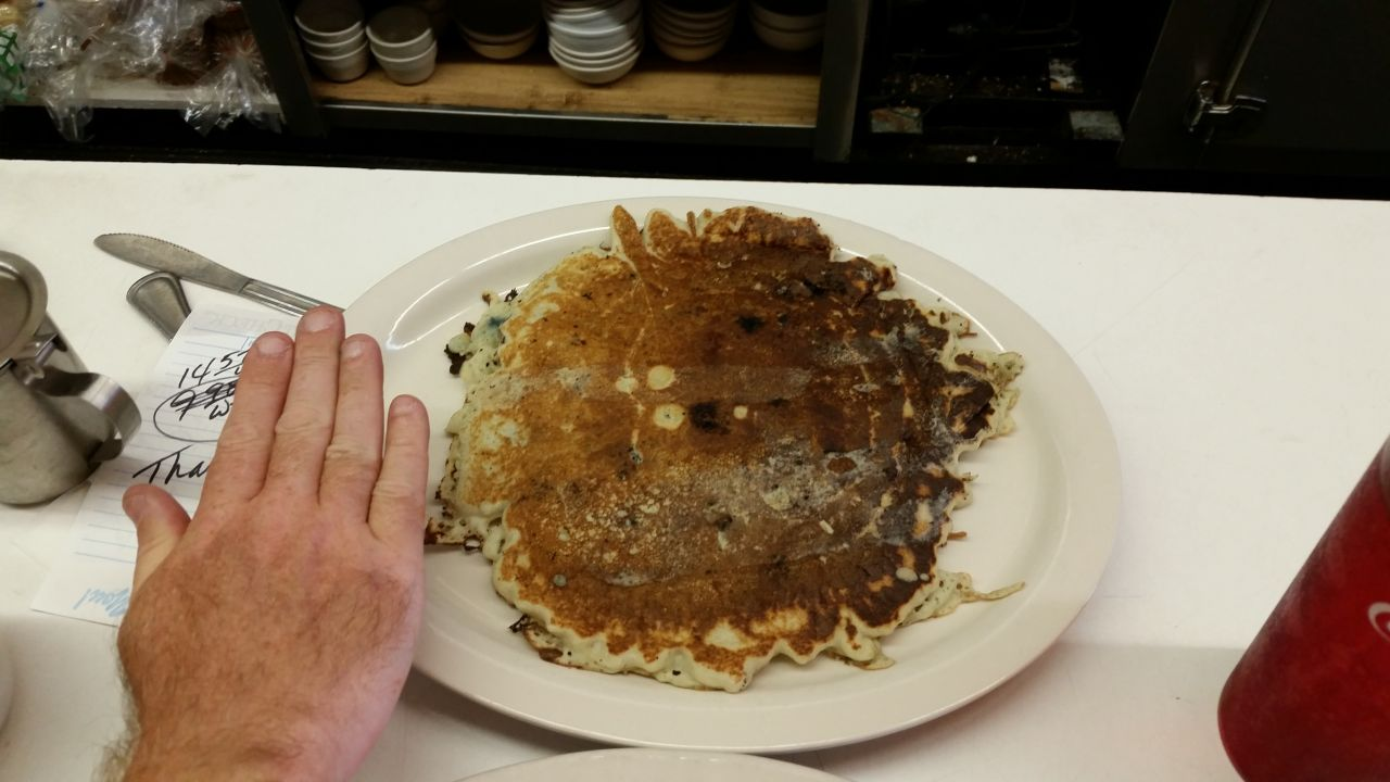 The Giant Sized Blueberry Pancakes At The Durango Diner