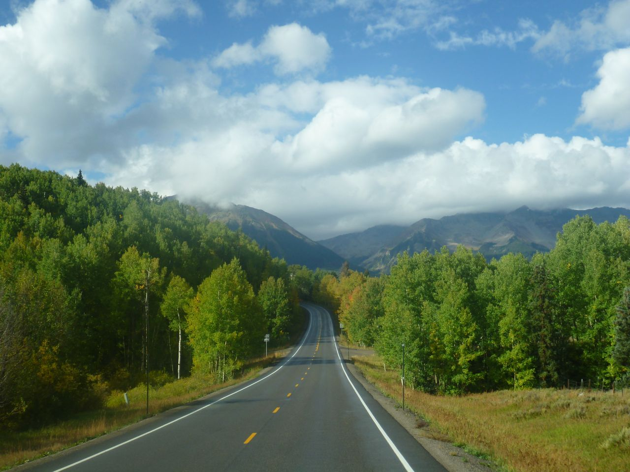 Driving Through The San Juan Mountains