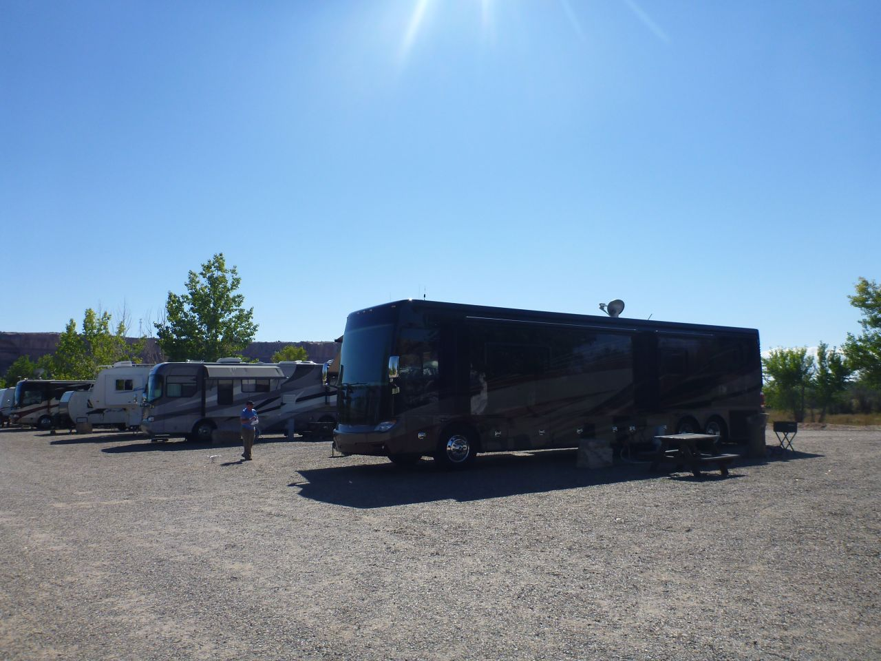 Our Site At The Cadillac Ranch RV Park In Bluff, UtahOur Site At The Cadillac Ranch RV Park In Bluff, Utah