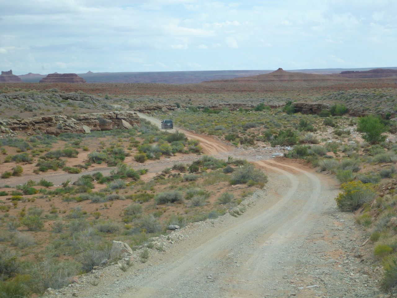 Typical Road Conditions Through Valley of the Gods