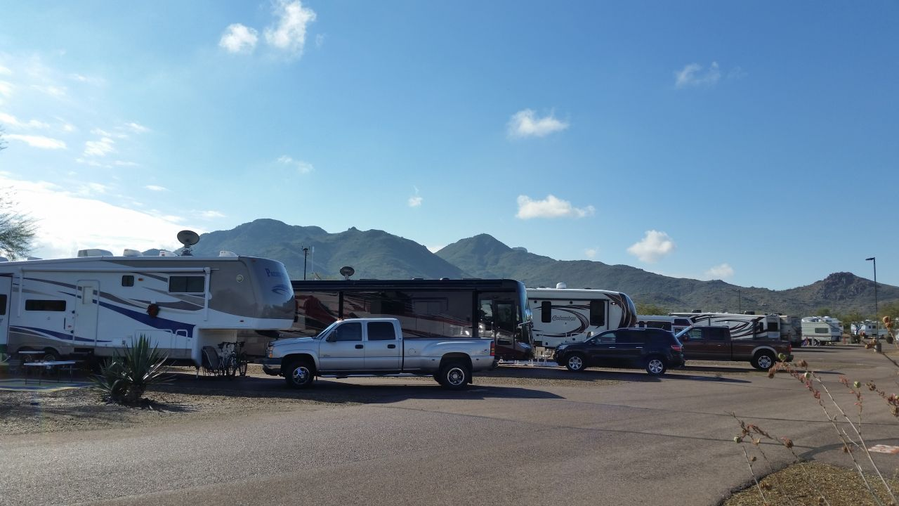 Our Spot At Eagle View RV Resort In Fort McDowell, AZ
