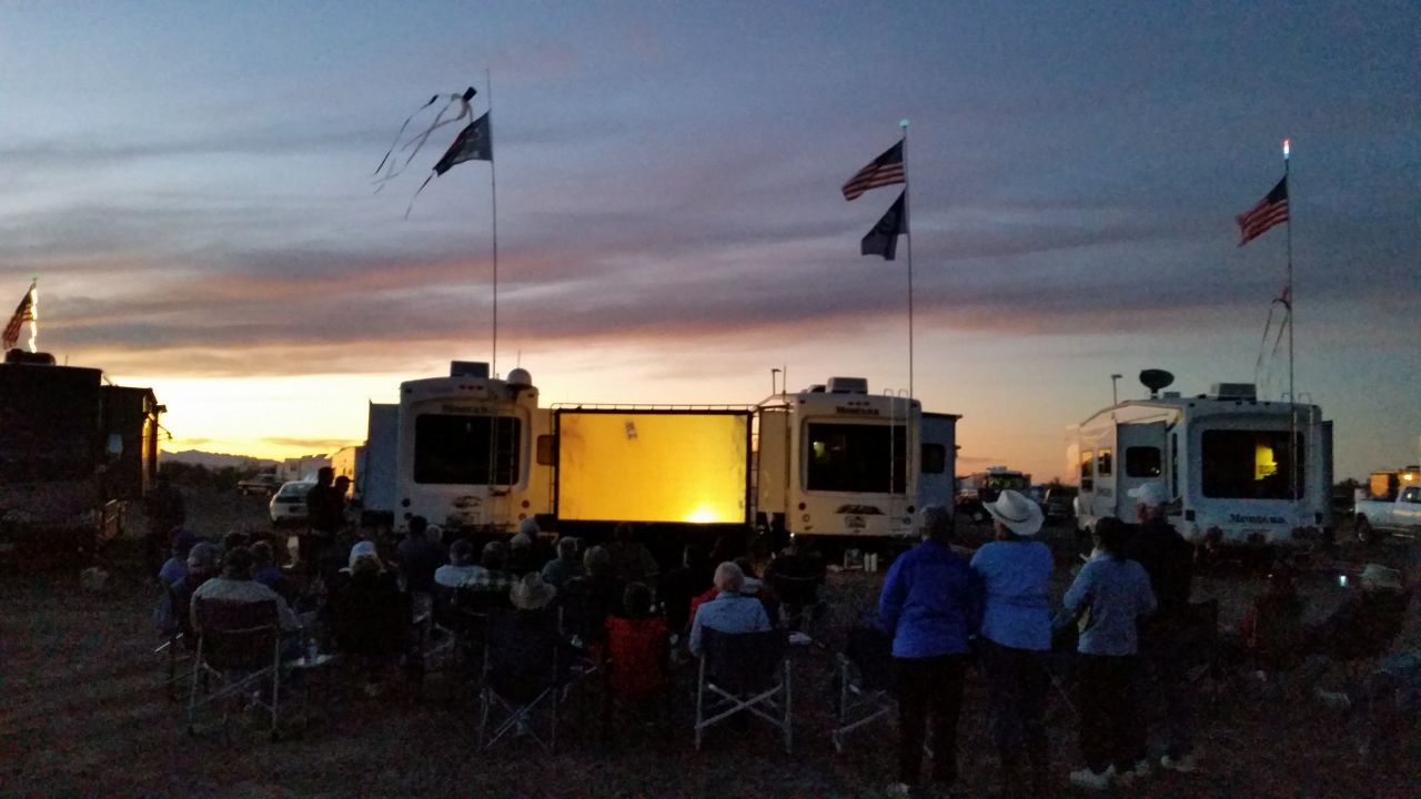 Movie Night Under The Stars With Friends At The Montana Group