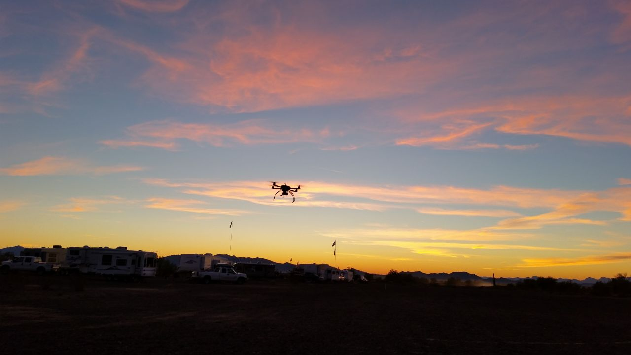 Quadcopter Shooting The Sunset