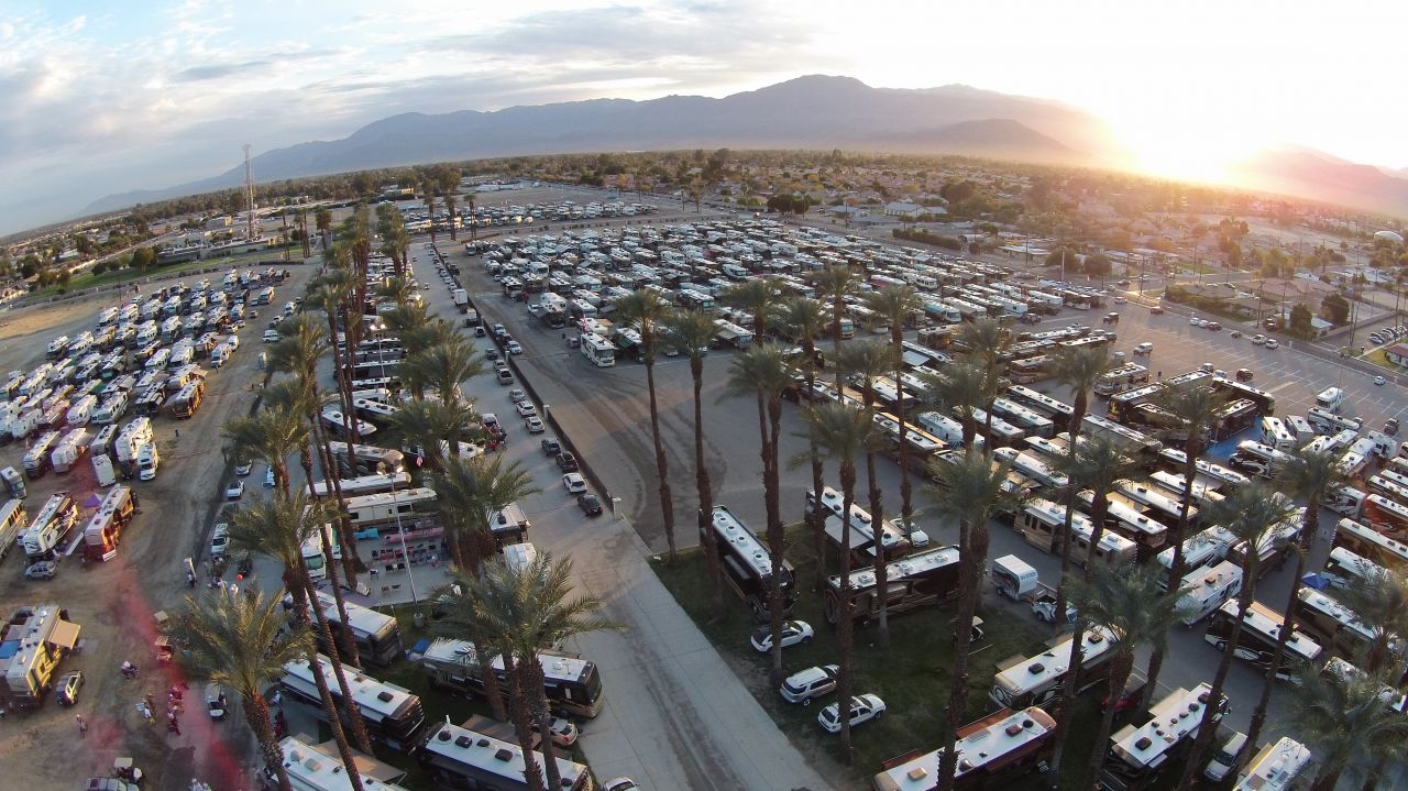 Sunset at the FMCA Indio Rally