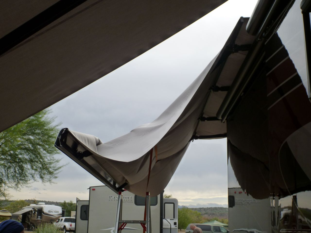 Replacing The Awning Fabric
