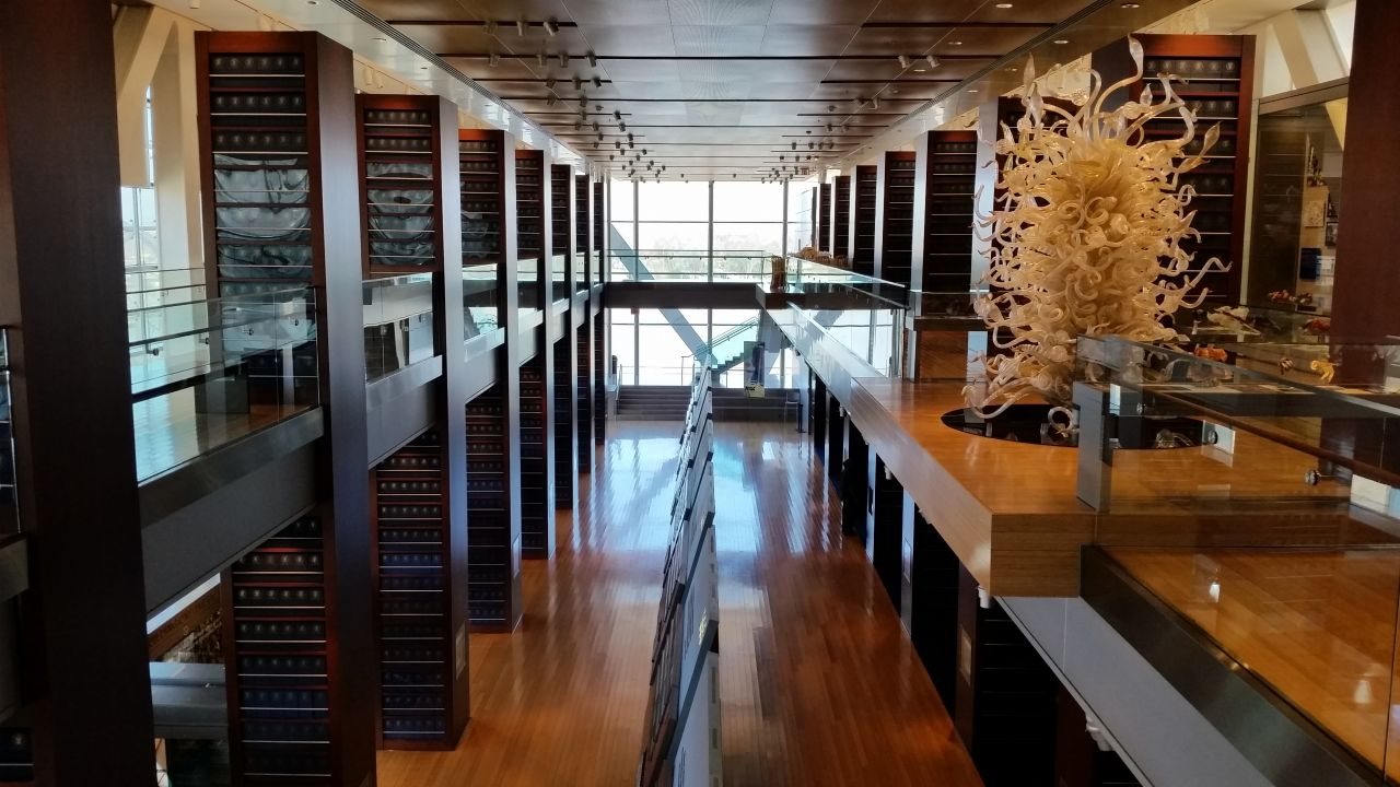 Second Floor View Inside The Clinton Presidential Library
