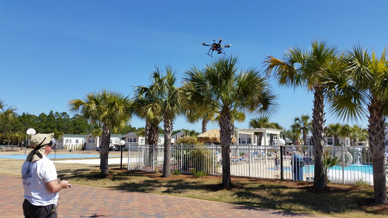 David Did Some Flying With The Quadcopter