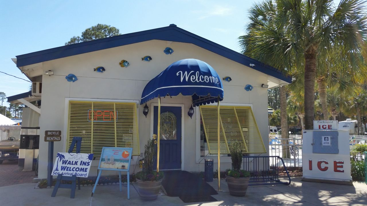 The Entrance To Emerald Coast RV Beach Resort