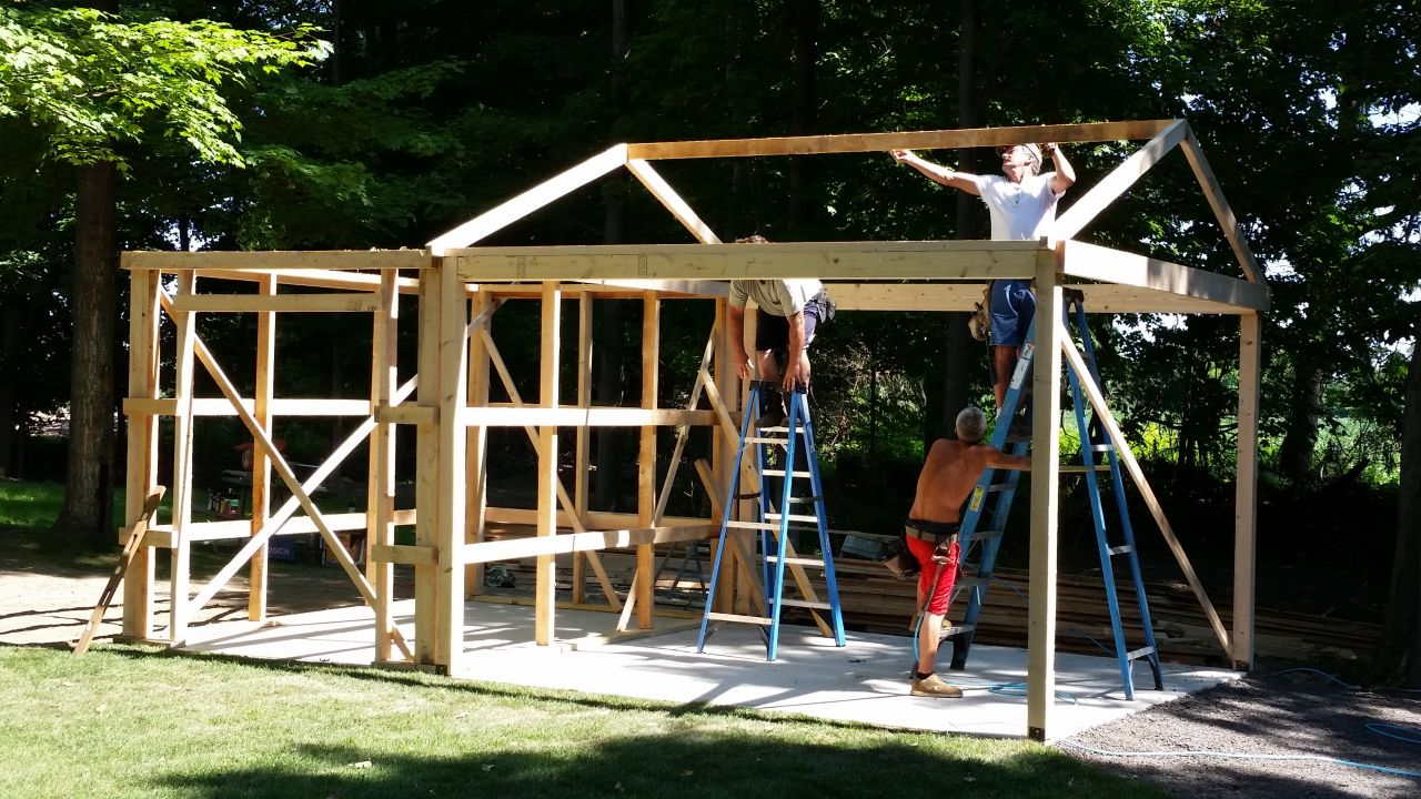 July 2015 - Shed Build