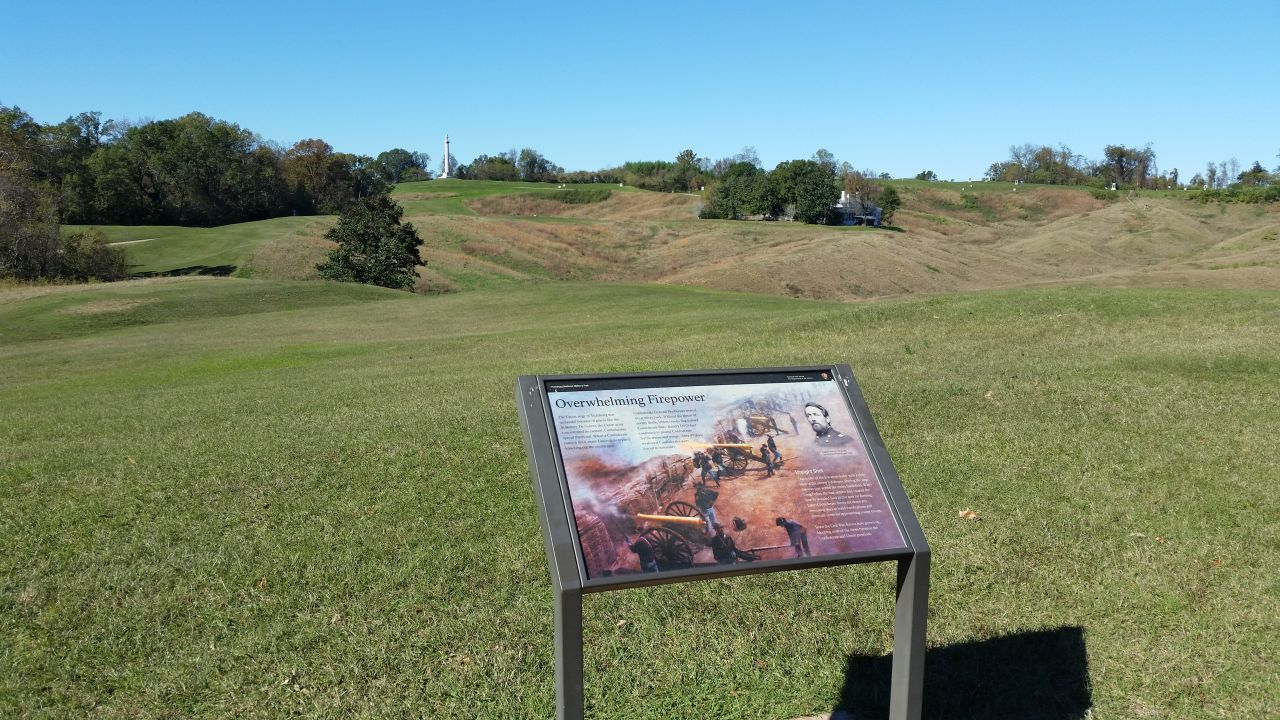 One Of The Battlefields Of The Civil War
