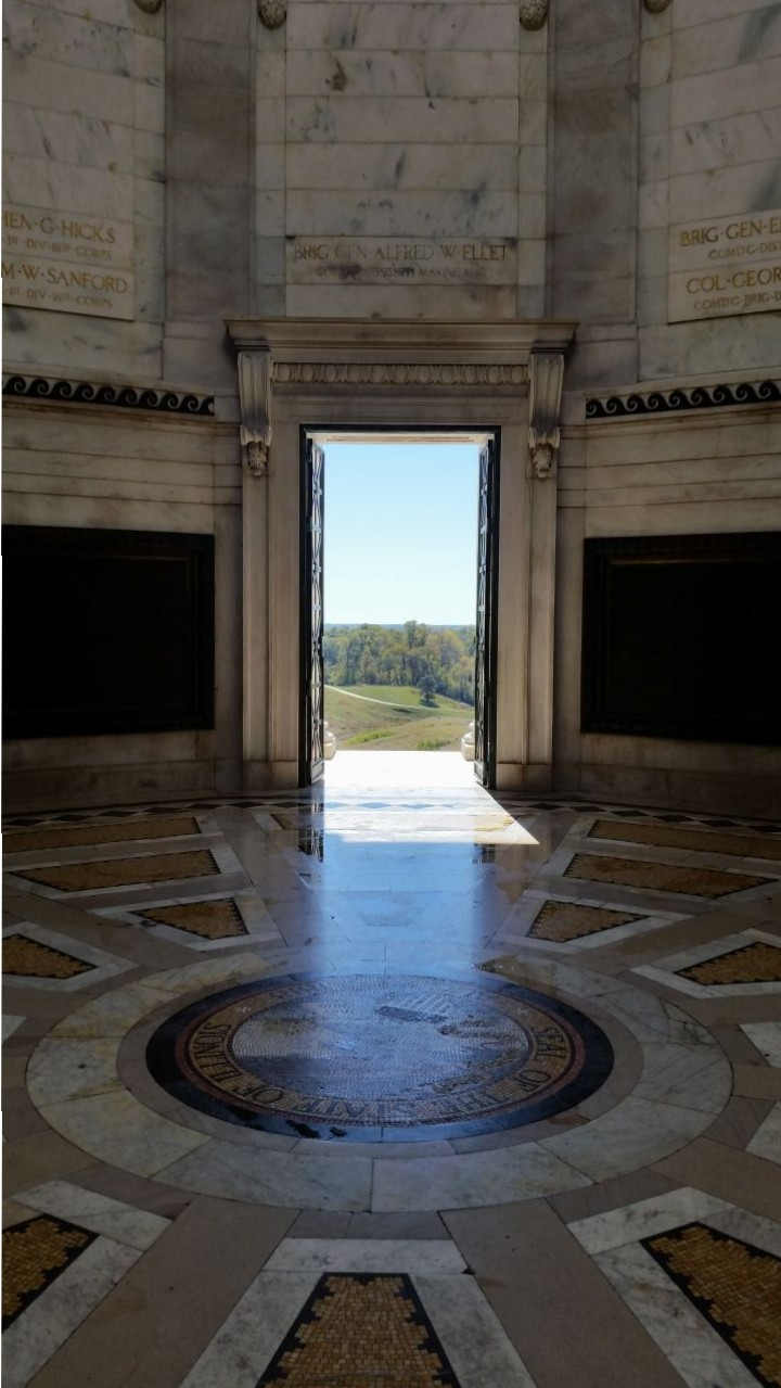 Inside The Marble Structure With Names Of Soldiers