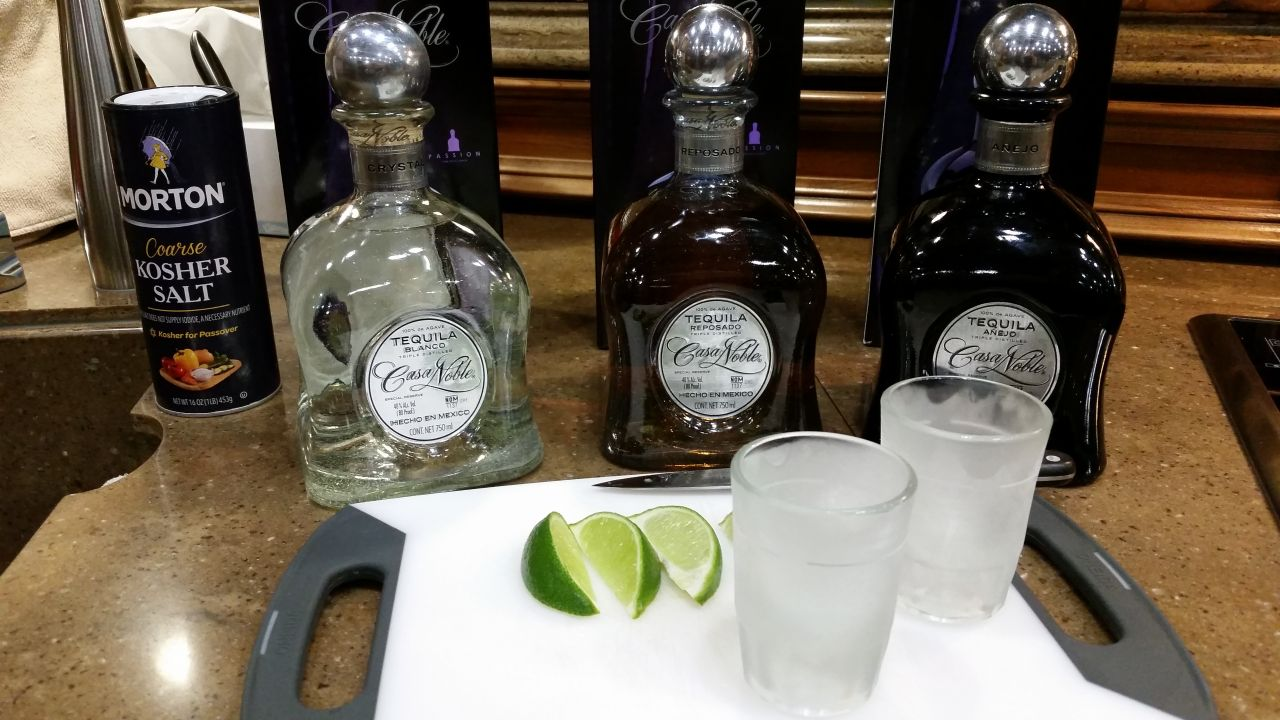 Tequila Sampling After A Long Hard Day