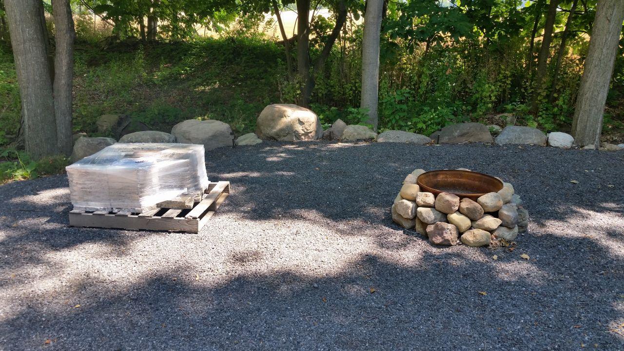 bott lott improvements granite fire pit outside our bubble