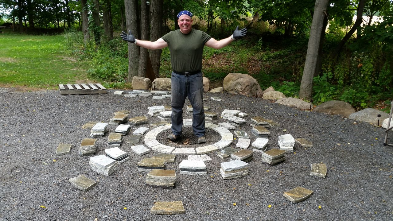 Deconstructed Fire Pit