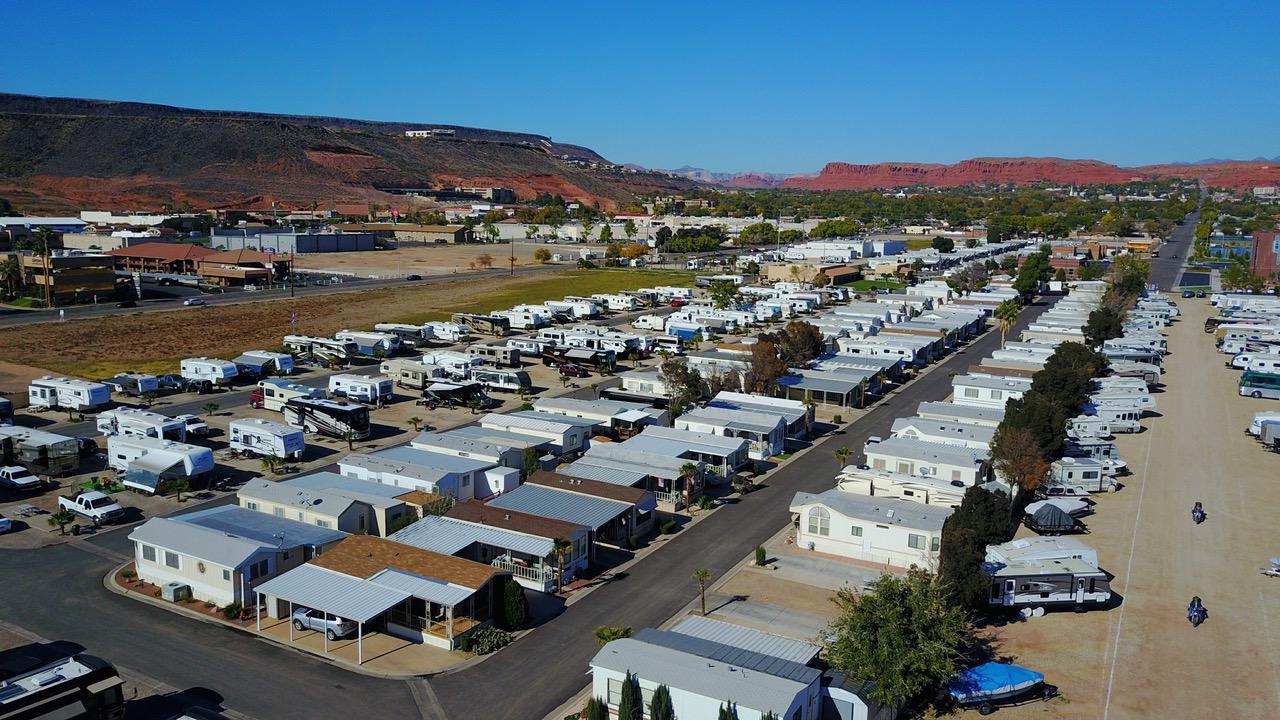 Overhead View Of Temple View RV Resort In St. George, Utah