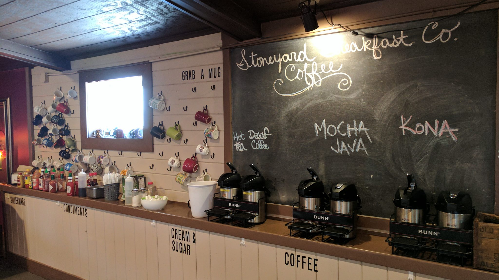 Coffee Counter At Stoneyard Breakfast Company In Brockport, NY