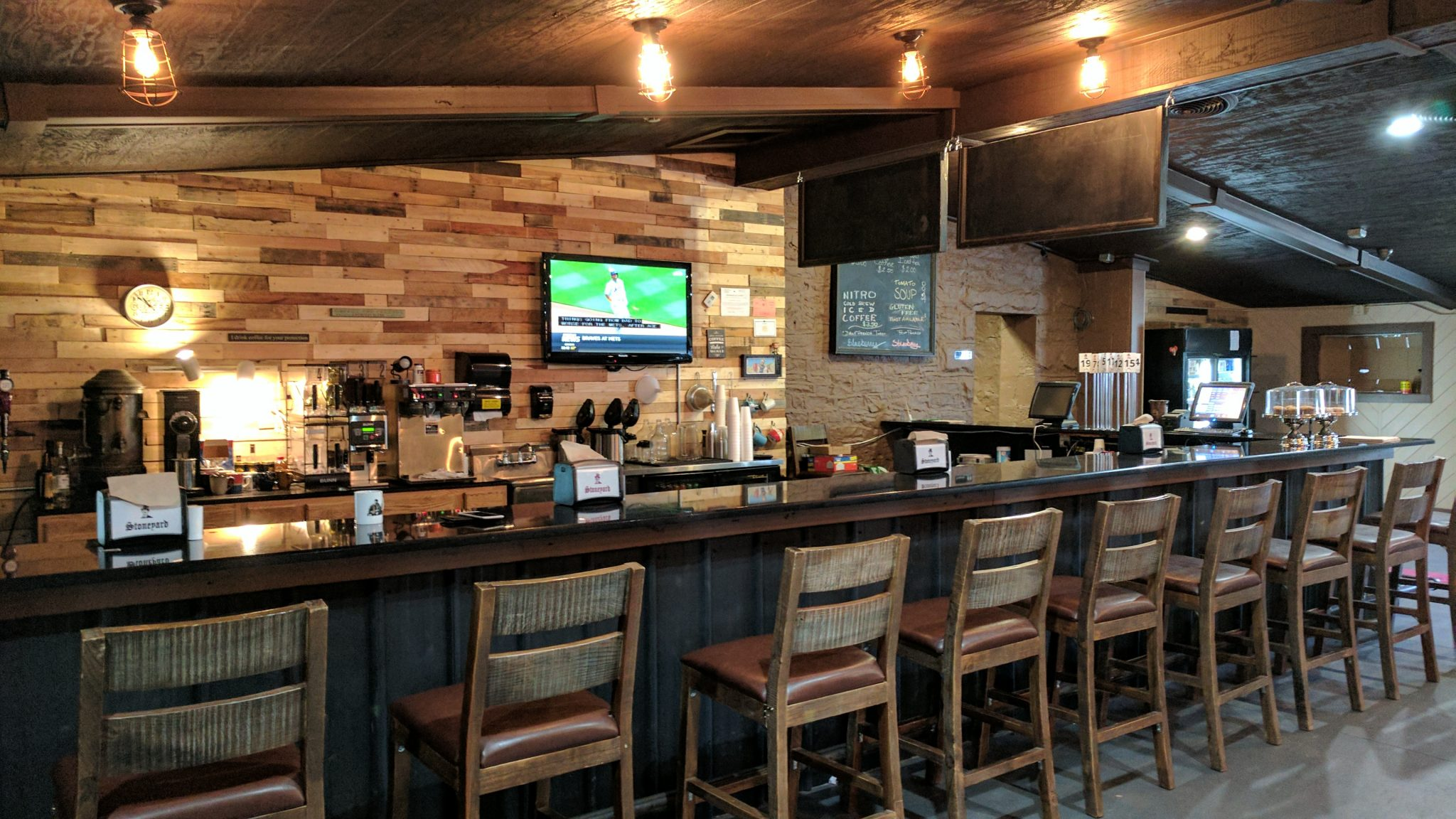 Sit At The Bar At Stoneyard Breakfast Company In Brockport, NY